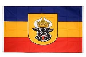 Flaggenfritze–Bandera de balcón Bandera de Alemania Mecklemburgo Alt–90x 150cm