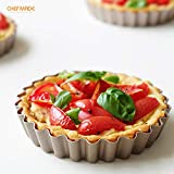 CHEFMADE Mini Tart Pan Set, 4-Inch 4Pcs with