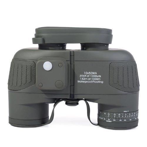 Outdoorguru Tactical Gear Military 10x50 Navy Binoculars Wit