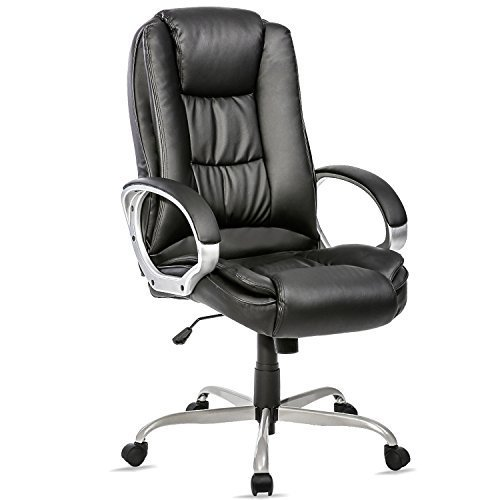Merax Ergonomic PU Leather High Back Office Chair, Black by Merax