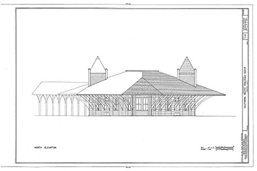 - Historic Pictoric Structural Drawing HABS TEX,198-HEAR,2- (Sheet 3 of 7) - Southern Pacific Railroad Depot, Hearne, Robertson County, TX 66in x 44in