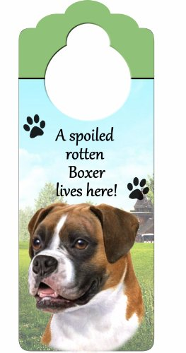 Boxer, Uncropped Wood Sign