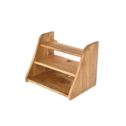 ZXG-Rack Solid Wood Set-top Box Rack Bedroom Modern Minimalist Wall-Mounted Wireless Router Storage Box Multi-Function