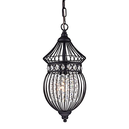 Black Chandeliers Crystal Chandelier Lighting Farmhouse Lighting Fixtures 1 Light 17045 by LaLuLa