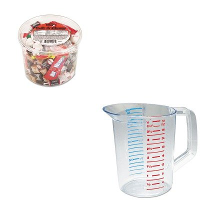 KITOFX00013RCP3216CLE - Value Kit - Rubbermaid-Clear Bouncer Measuring Cups 1 Quart (RCP3216CLE) and Office Snax Soft amp;amp; Chewy Mix ()