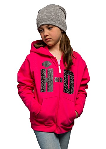 Harley-Davidson Girls Youth Biker Raised H-D Full Zip Pink Long Sleeve Hoodie (Toddler-2T/3T) (Biker Kids Sweatshirt)