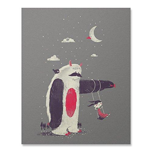Sloth-Print-Sloth-Wall-Art-Cute-Yeti-Poster-Home-Decor-Great-Art-Gift-18-x-24