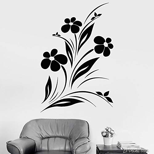 jiushivr Planta Vinilo Tatuajes de Pared Hermosas Flores ...