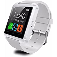 ANCwear Bluetooth Smart Watch WristWatch U8 UWatch Fit for Smartphones IOS Apple iphone 4/4S/5/5C/5S Android Samsung S2/S3/S4/Note 2/Note 3 HTC Sony Blackberry (White) by ENKE-smart