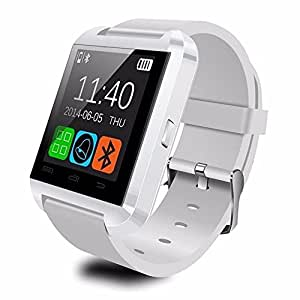 LEMFO Bluetooth Smart Watch WristWatch U8 UWatch Fit for Smartphones IOS Apple iphone 4/4S/5/5C/5S Android Samsung S2/S3/S4/Note 2/Note 3 HTC Sony Blackberry (White)