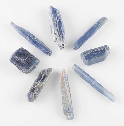 ThrowinStones Blue KYANITE Crystals - 2 Genuine Natural Blue Kyanite Rocks, Reiki Crystals and Healing Stones E0012 ()
