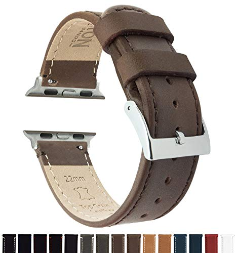 (Barton Leather Watch Bands Compatible with All Apple Watch Models - 38mm Saddle Leather &)