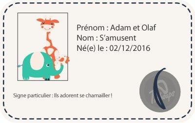 Tichoups Chaussons b/éb/é cuir souple Adam et Olaf samusent 16//17