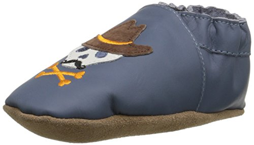 Robeez Buck-A-Roo Buddies Crib Shoe (Infant), Blue, 12-18 Months M US ()