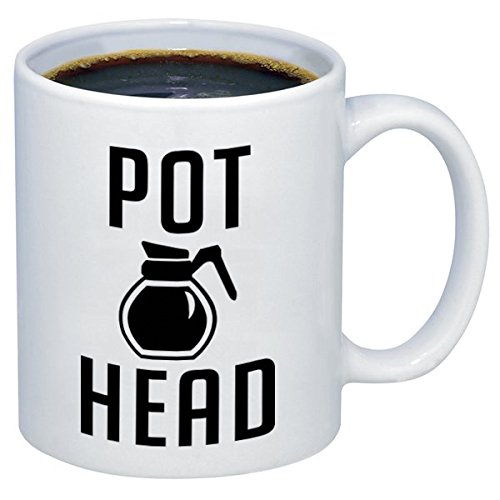 P&B PotHead Unique Gift, Funny Ceramic Coffee Mugs M252 (11 oz.) (Best Gifts For A Pothead)