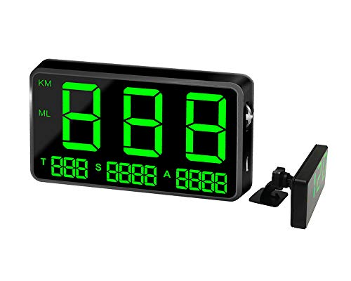 KingNeed Universal GPS Head-up Display Car GPS Speedometer with Over Speed/Fatigue Driving Alarm/Driving Time and Mileage Caculate and Display for Car & Other Vehicle (C80)