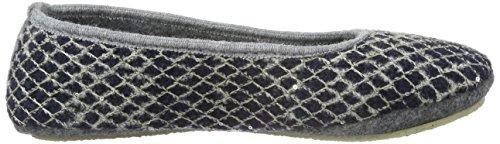 TOFEE Damen 74-42892 Flache Hausschuhe Blau (Blau/Grau)