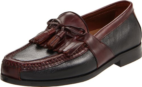 Johnston & Murphy Men's Aragon II Slip-on Loafer,Black/Brown,10 M
