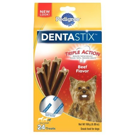 Pack of 12 - Pedigree DentaStix Beef Flavor Toy/Small Breed Chews Dog Treat, 24 ct by Pedigree (Image #2)