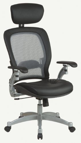 Light Air Grid Back Chair with Platinum Accents