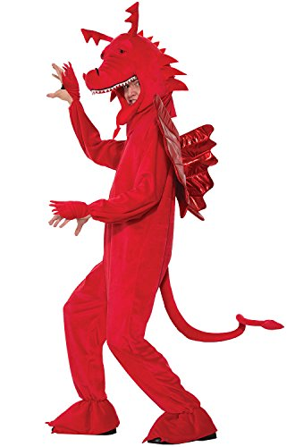 Dragon Costumes For Adults (Forum Men's Red Dragon Costume, Multi/Color, One Size)