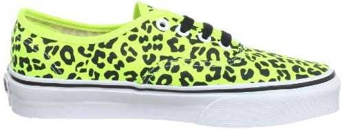 Vans U AUTHENTIC SLIM (BRUSHED TWILL) VQEV7GS, Unisex-Erwachsene Sneaker Gelb ((Neon Leopard))