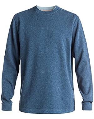 Men's Rock Lagoon 3 Pullover Sweatshirt and HDO Travel Sunscreen (15 SPF) Spray Bundle