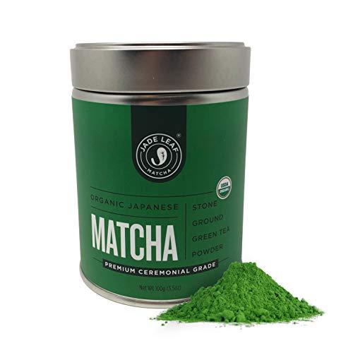 Jade Leaf - Organic Japanese Matcha Green Tea Powder, Premium Ceremonial Grade (For Sipping as Tea) – [100g value size]