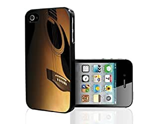 Brown up Close Acoustic Guitar Hard Snap on Case (iPhone 6 plus 5.5) Designed by HnW Accessories
