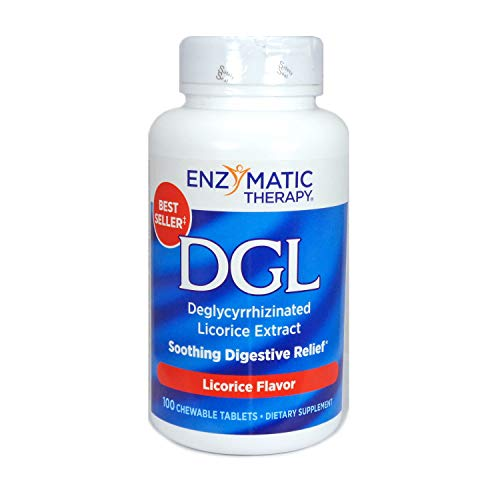 Enzymatic Therapy DGL, Licorice Flavor, 100 Chewable Tablets (2 Pack)
