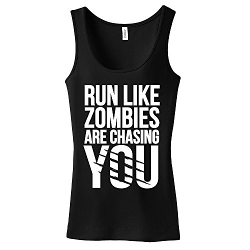 mintytees keepin' It Fresh Run Like Zombies Are Chasing You Cardio Ladies Tank -