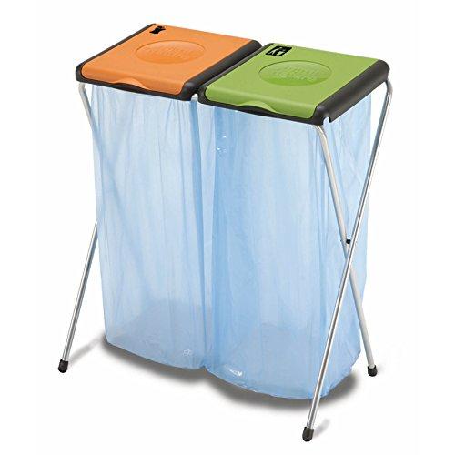 Müllsackständer Doppelt 2x 120L Blauer Gelber Sack