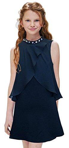 Hannah Banana Big Girls Tween Embellished Party Dress, 7-16 (14, - Black Dress Chic