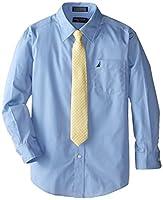 Nautica Dress Up Boys Poplin Shirt And T...
