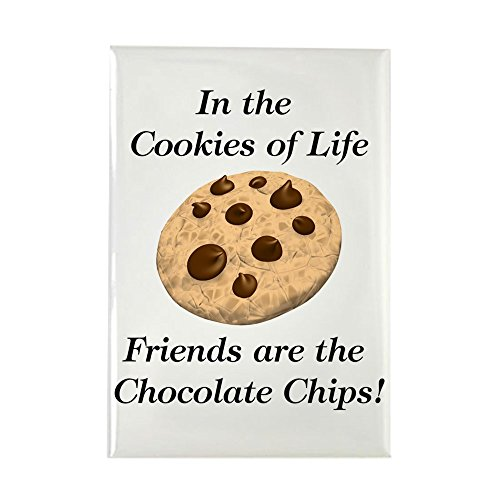 (CafePress Chocolate Chips Rectangle Magnet, 2