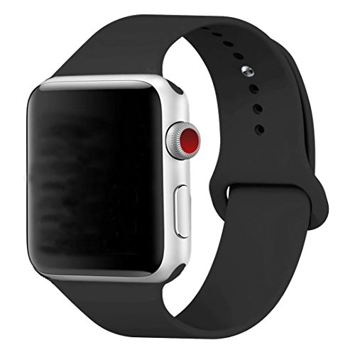 Silicone 38mm Watchband for iWatch Apple (Black) - 5