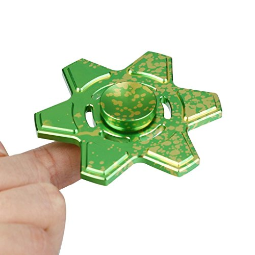 Coohole Tri Fidget Hand Spinner Triangle Torqbar Finger Toy EDC Focus ADHD Autism Kid Toy (Green)