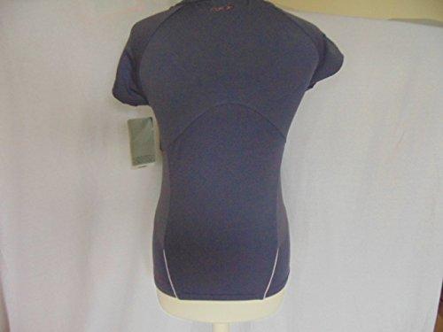 Damen–Damen Reebok PlayDry violett Übung T-Shirt–BNWT Größe 12