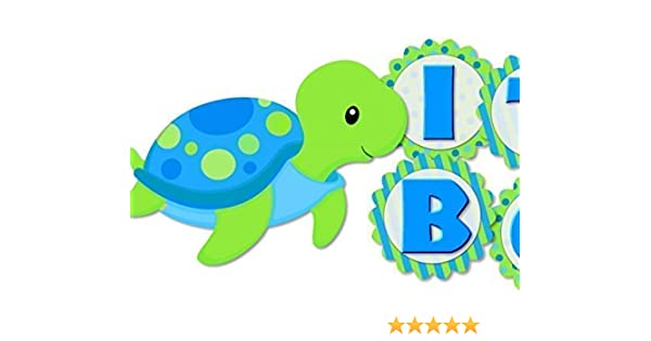 Turtles on the Beach Personalized Birthday Banner