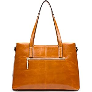Leather Shopper Tote Bag Handbags for Women Best Wax Cowhide Shoulder Crossbody Bags Purse - ANA LUBLIN