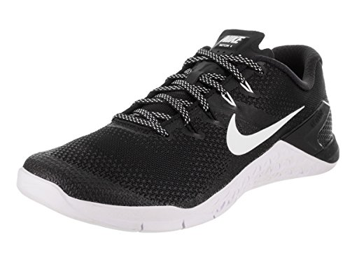 9673fd9e59d9 Nike Men s Metcon 4 Black White Ankle-High Cross Trainer Shoe - 11M