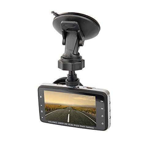 KDLINKS DX2 Full-HD 1080P Front + 720P Rear 290° Super Wide Angle Car Dash Cam with G-Sensor & WDR Superior Night Mode, 1 Year Dashcam Warranty by KDLINKS (Image #1)