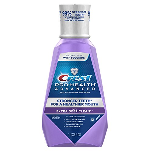 Price comparison product image Crest Pro-Health Advanced with Extra Deep Clean Mouthwash, Clean Mint, 33.8 Fluid Ounce