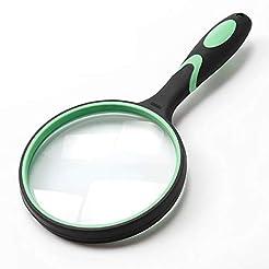 Large Magnifying Glass 5X Handheld Readi...