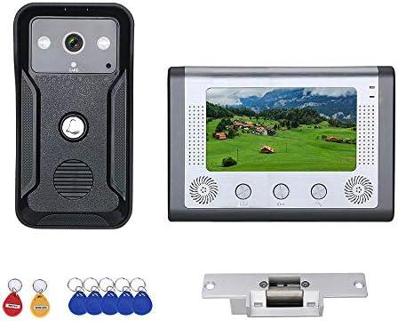 電気ストライクロック付き7インチカラービデオインターホンドア電話RFIDシステムとHDドアベル1000TVLカメラ