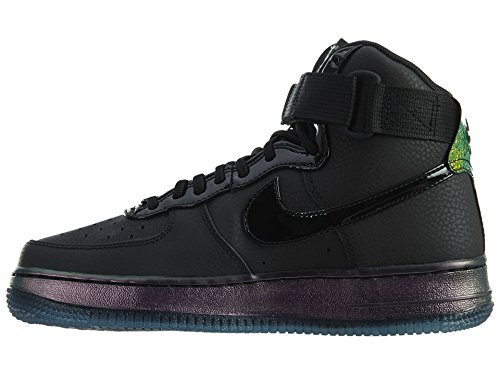 Zapatillas De Baloncesto Nike Mujeres Air Force 1 Hi Premium Negro / Negro Gum Med Brown Sail Black / Black-pure Platinum-black