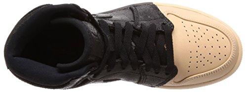 Gold 1 Femme Fitness Jordan Hi Wmns metallic black Chaussures Ret 007 Multicolore Nike Air Prem De qpWFg1R
