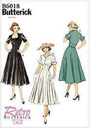 BUTTERICK PATTERNS B6018E50 Misses' Dress Sewing Template, Size E5 (14-16-18-20