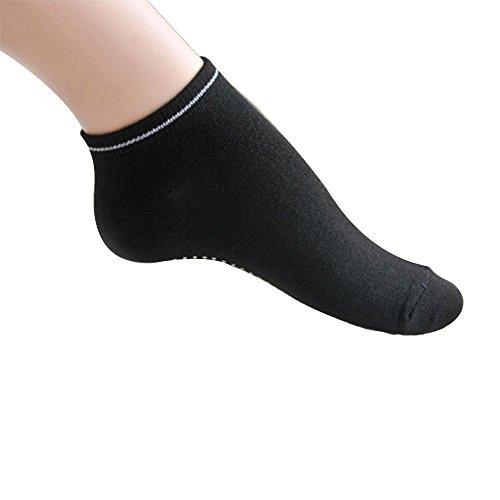 3 x Pairs Non Slip Yoga Pilates Socks Martial Arts Fitness Dance Barre. Anti-slip / Non-slip,Full Toe Ankle Fall Prevention Grip Socks, Sox UK 4-9 / EU 38-44 by AllThingsAccessory®