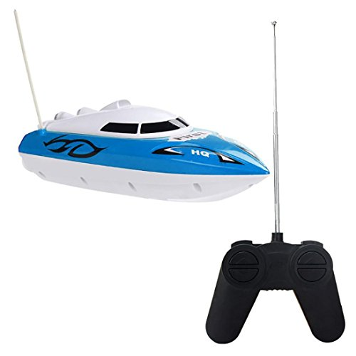 Dacawin(TM) 10 inch RC boat Radio Remote Control RTR Electric Dual Motor Toy (Blue)